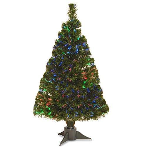 National Tree Battery Operated Fiber Optic Ice Tree