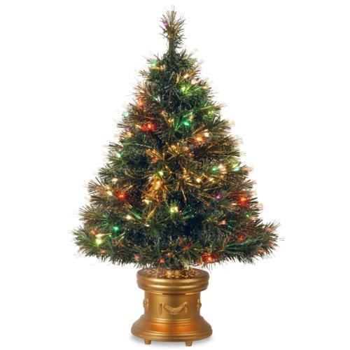 National Tree Fiber Optic Ice Tree With Multicolor Lights [Item # SZIX7-102L-36-1]