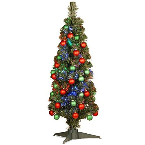 National Tree Fiber Optic Fireworks Ornament Tree