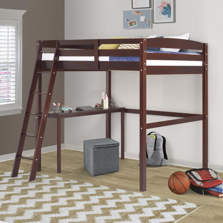 Camaflexi Concord Full Size High Loft Bed with Desk [Item # T1402DF]