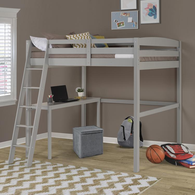 Camaflexi Concord Full Size High Loft Bed with Desk
