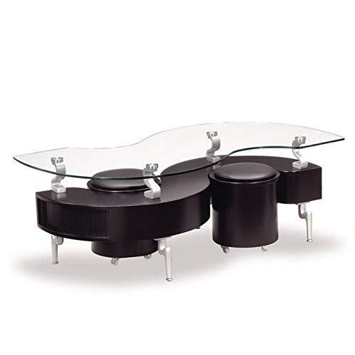 Global Furniture Coffee Table In Black With Black Cushions