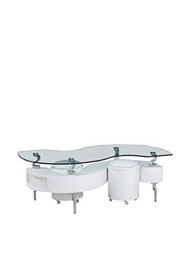 Global Furniture Coffee Table In White With White Cushions