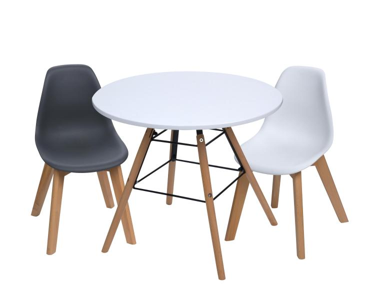 Gift Mark Modern Kids Table and Chair Set (1 Table & 2 Chairs)