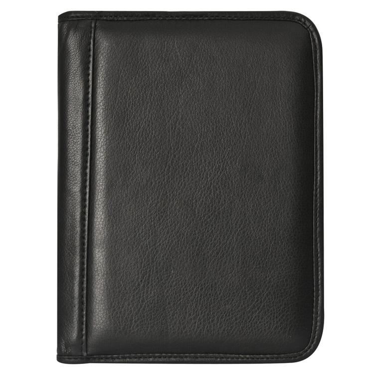 Canyon Outback Antelope Mesa Junior Leather Meeting Folder with Pen - Black