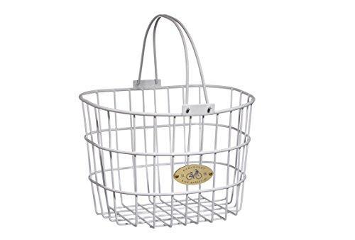 Surfside Adult Wire D-Shape Basket, White