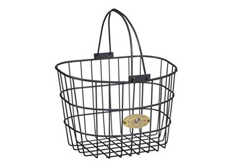 Surfside Adult Wire D-Shape Basket, Charcoal Gray