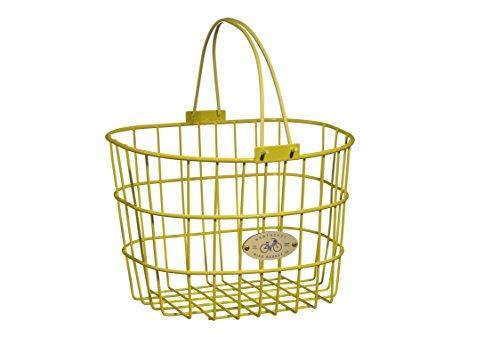 Surfside Adult Wire D-Shape Basket, Yellow
