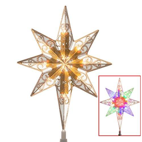 National Tree Tree Top Star with Battery Operated Dual Color LED Lights