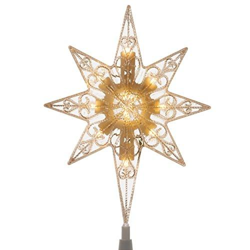 National Tree Tree Top Star with Battery Operated Warm White LED Lights