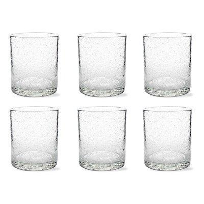 Tag Bubble Glass Double Old Fashion, Clear, 6 Count