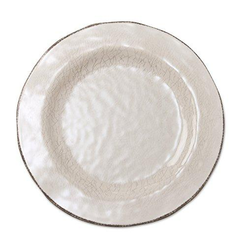 TAG Veranda Melamine Dinner Plates Ivory Set of 4