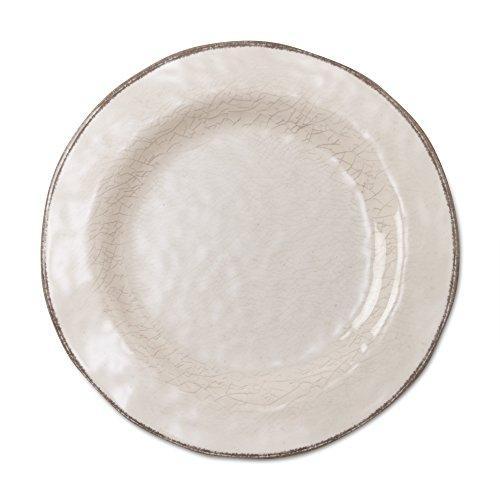 TAG Veranda Melamine Salad Plates Ivory Set of 4