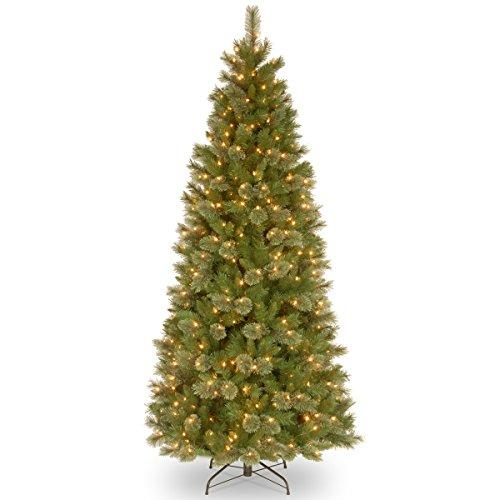 National Tree Tacoma Pine Slim Tree with Clear Lights