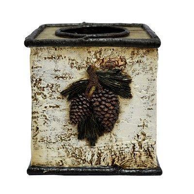 Birch Pinecone Tissue Box