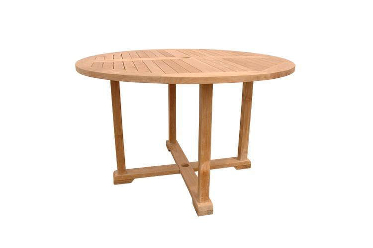 Anderson Teak Tosca 4-Foot Round Table With Frame