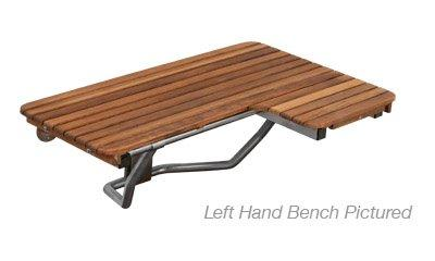 ADA Compliant Right Hand Wall Mount Bench