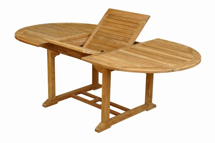 Anderson Teak Bahama Oval Extension Table Extra Thick Wood