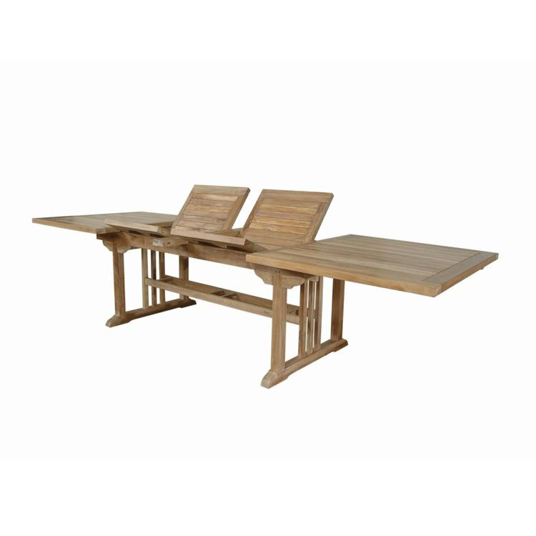 Anderson Teak Sahara Rectangular Double Ext. Table - [TBX-106RD]