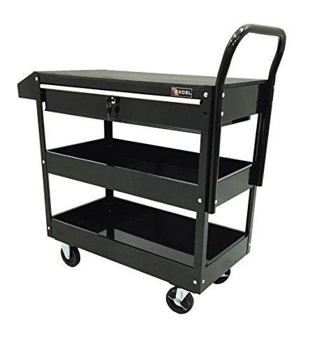 Excel 36-Inch Steel Tool Cart, Black