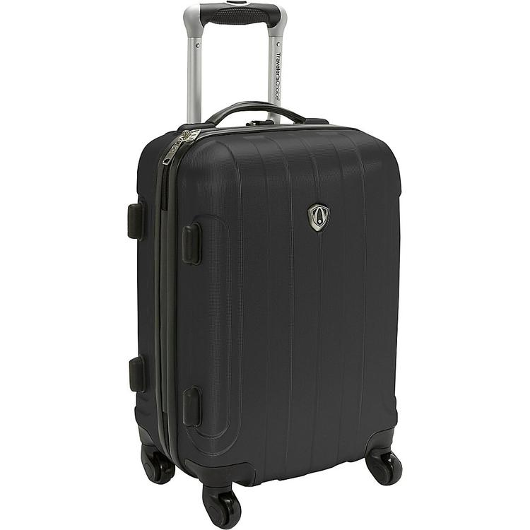 Traveler's Choice Cambridge Carry-on Spinner Luggage, Plum