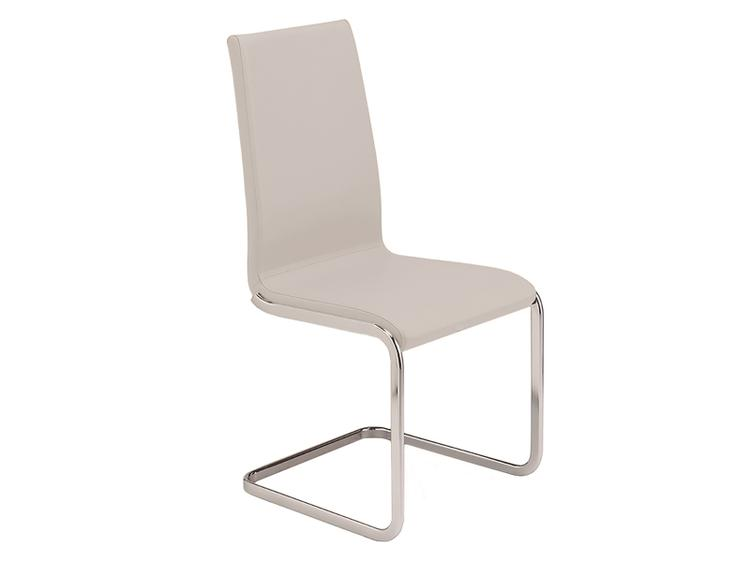 AURORA Italian White Leather  Dining Chair by Casabianca Home