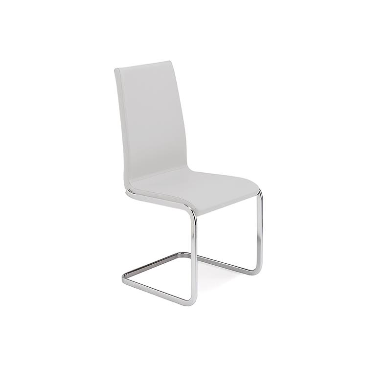 Casabianca Furniture Aurora Dining Chair with Chrome Plated Base
