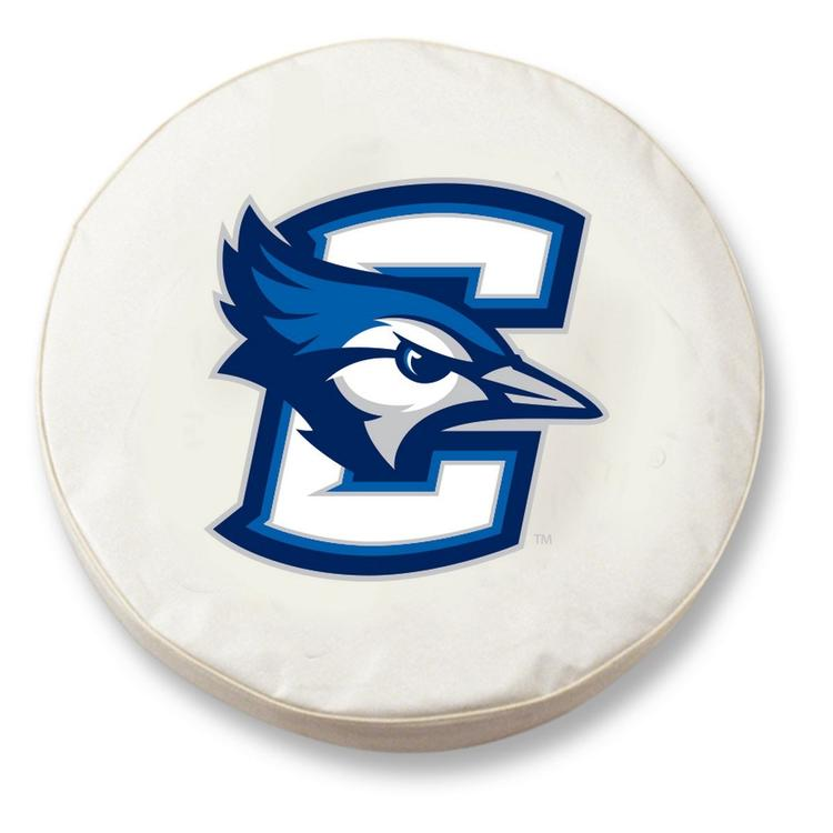 Holland Bar Stool HBS Creighton Tire Cover with Bluejays Logo on White Vinyl