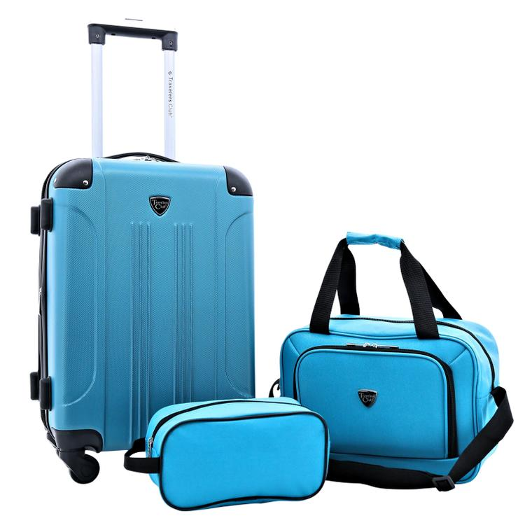 Travelers Club Chicago Plus Carry-On Luggage and Accessories Set With Tote and Travel kit [Item # TCL-66993-EX-360]