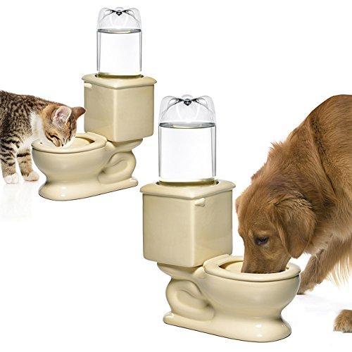 Toilet Pet Refilling Water Bowl