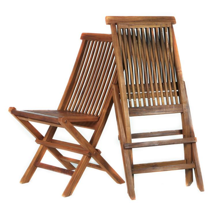 All Things Cedar Folding Chair Set & Cushions, Blue