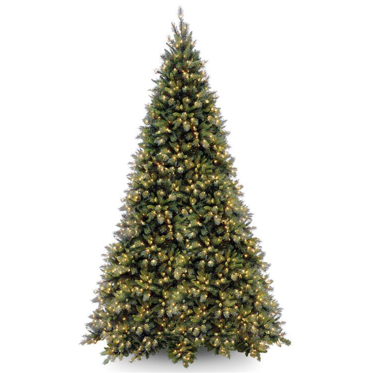 National Tree Tiffany Fir Medium Tree with Clear Lights