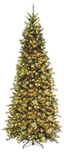 National Tree Tiffany Fir Slim Tree with Lights