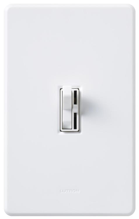 Lutron TGCL-153PH-WH White Single Pole Or 3 Way Toggler CFL/LED Dimmer