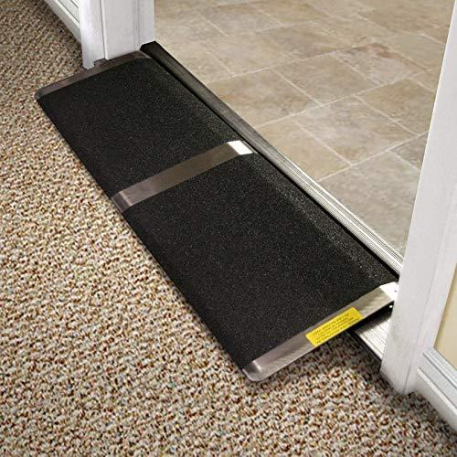 Prairie View 12 in x 32 in Threshold Wheelchair Ramp 600 lb. Weight Capacity, Maximum 1.5? Rise