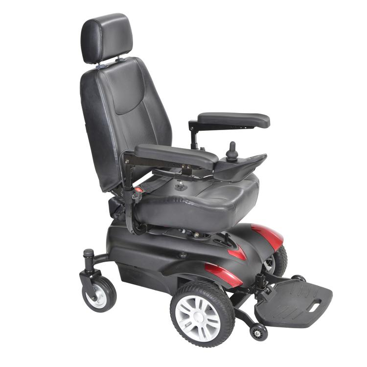 Titan X23 Front Wheel Power Wheelchair, Full Back Captain's Seat, 22