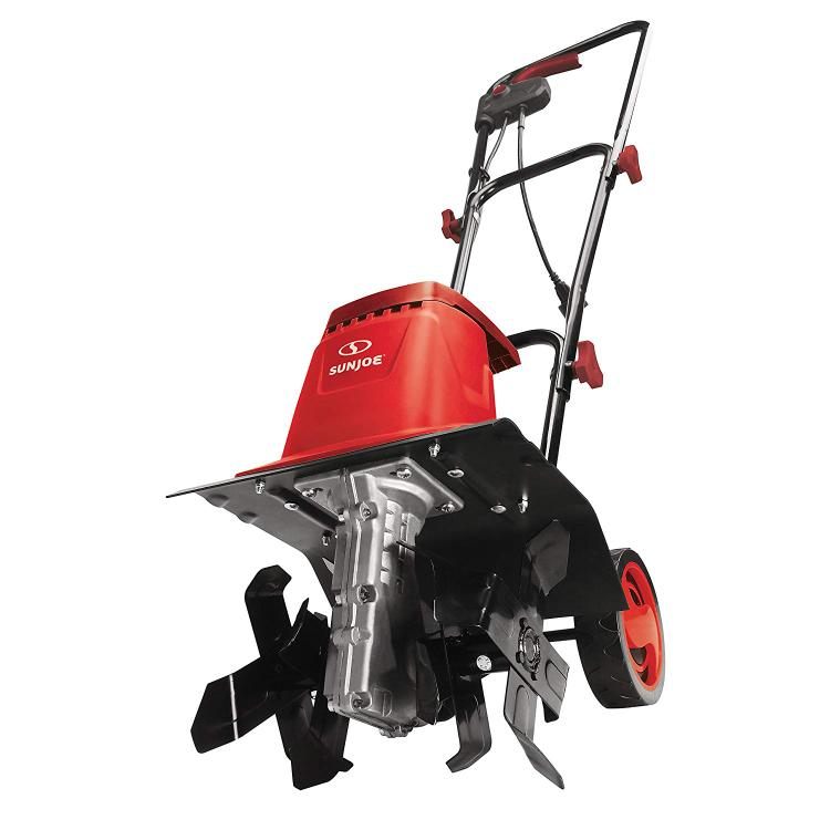 8-Amp 12-Inch Electric Tiller/Cultivator, Red