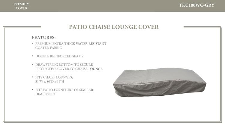 Bali Chaise Lounge Protective Cover, in Grey