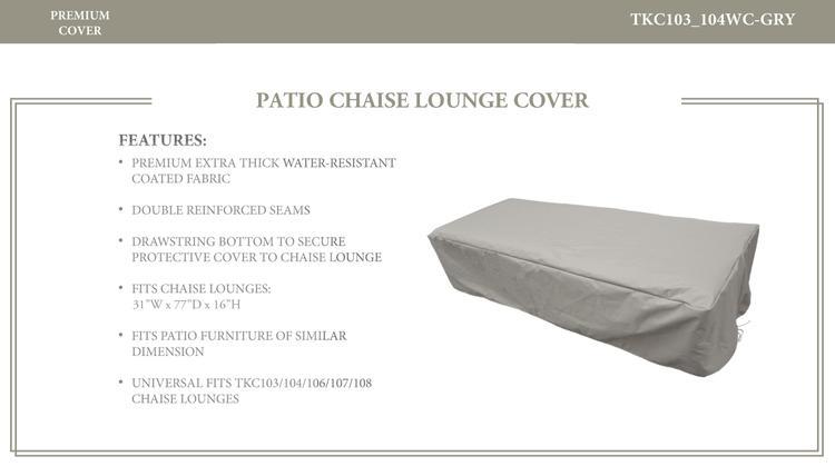 Classic/Oasis/Fairmont/Cape Cod/Venice/Laguna Chaise Lounge Protective Cover, in Grey