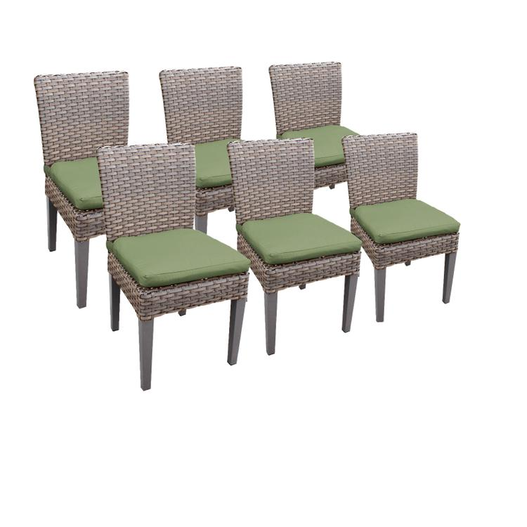 6 Oasis Armless Dining Chairs