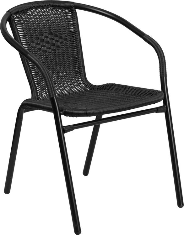 Rattan Indoor-Outdoor Restaurant Stack Chair