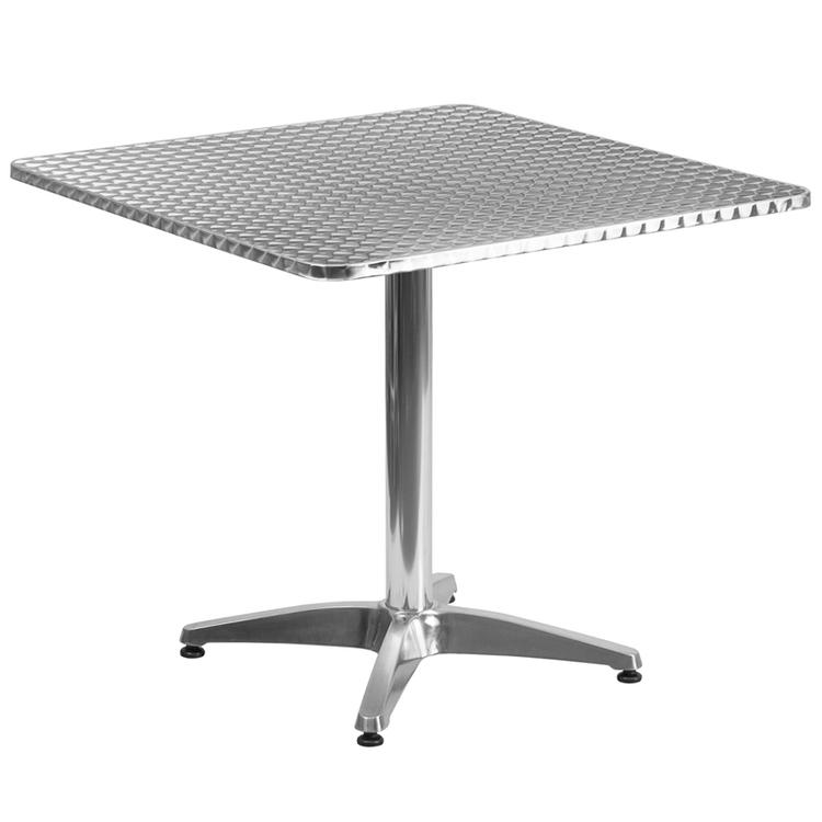 Square Indoor-Outdoor Table With Base