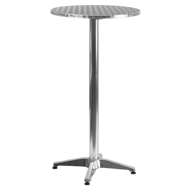 Flash Furniture Round Indoor-Outdoor Folding Bar Height Table With Base