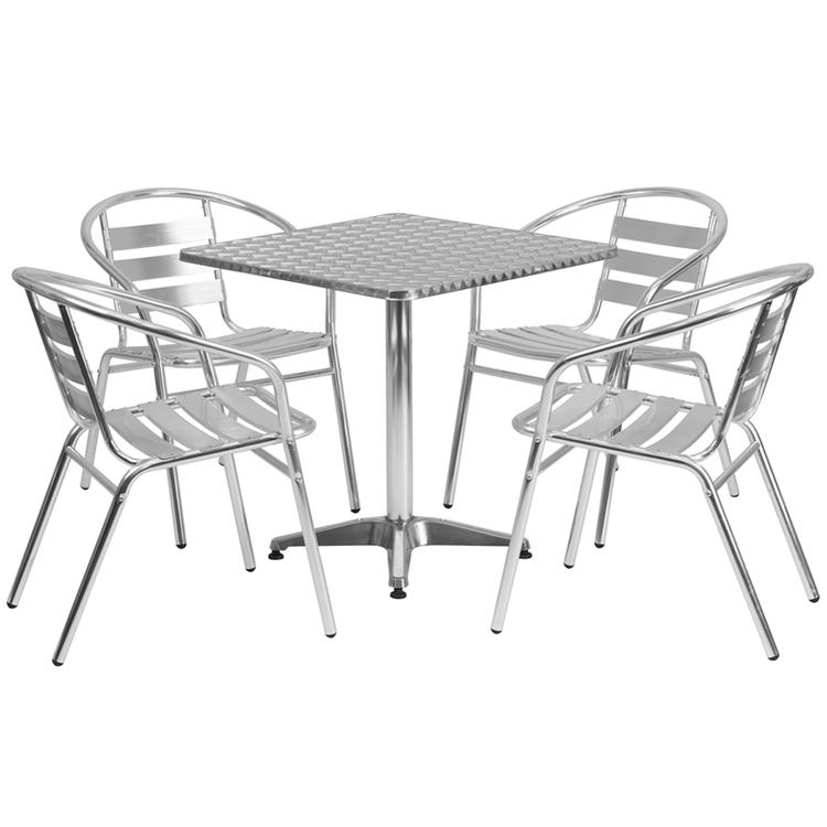 Square Indoor-Outdoor Table Set