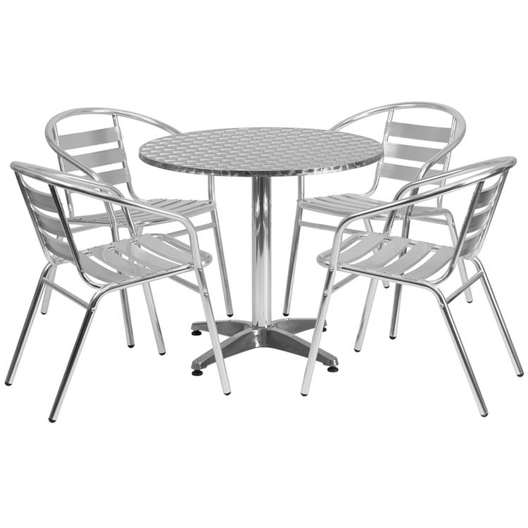 Round Indoor-Outdoor Table Set