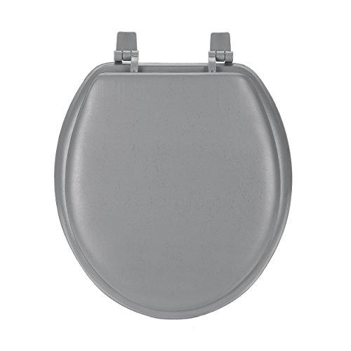 Fantasia 17 Inch Soft Standard Vinyl Toilet Seat - Charcoal