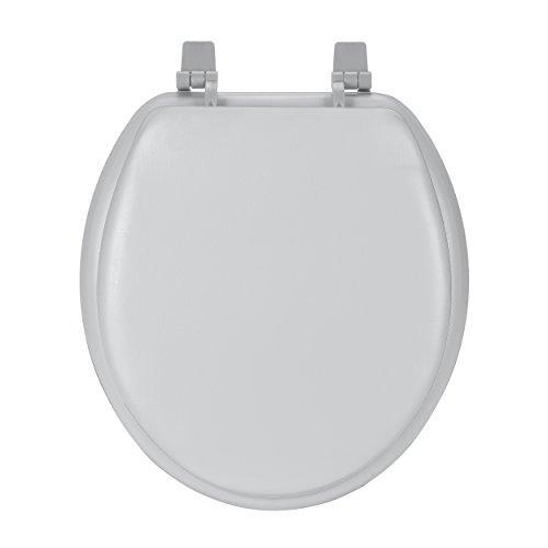 Fantasia 17 Inch Soft Standard Vinyl Toilet Seat - Silver