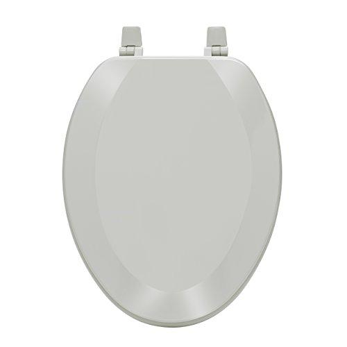 Fantasia 19 Inch Elongated Wood Toilet Seat - Silver