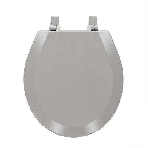 Fantasia 17 Inch Standard Wood Toilet Seat - Charcoal