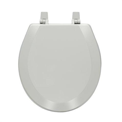 Fantasia 17 Inch Standard Wood Toilet Seat - Silver [Item # TOWDSTSL04]